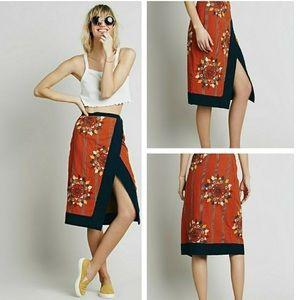 Free People Songbird Wrap Skirt